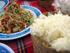 Laos - Somtam, Sticky Rice